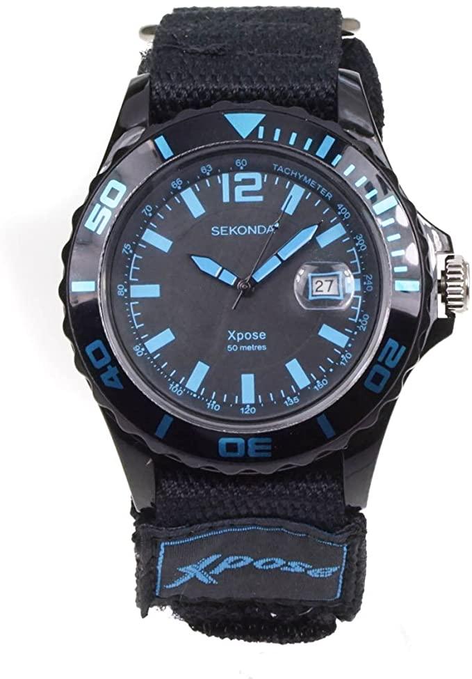 Sekonda Men's Sports Fabric Strap Black Watch 3523