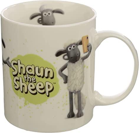 Puckator White Shaun The Sheep porcelain Mug