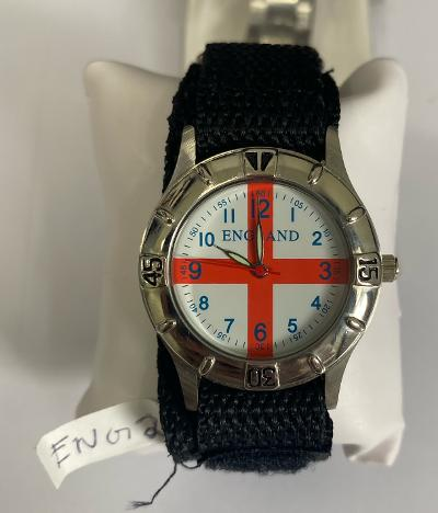 England Nylon Black Strap Watches